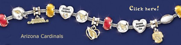 Arizona Cardinals Charm Bracelet