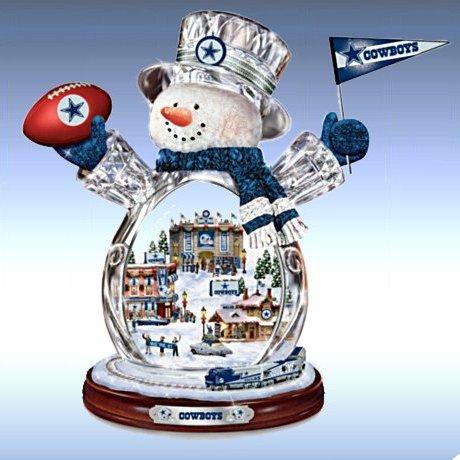 Dallas Cowboys Masterpiece Edition Crystal Snowman Figurine