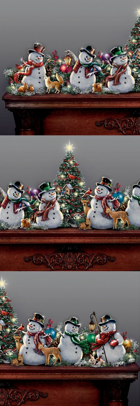Dona Gelsinger Making Christmas Bright Snowman Garland Collection