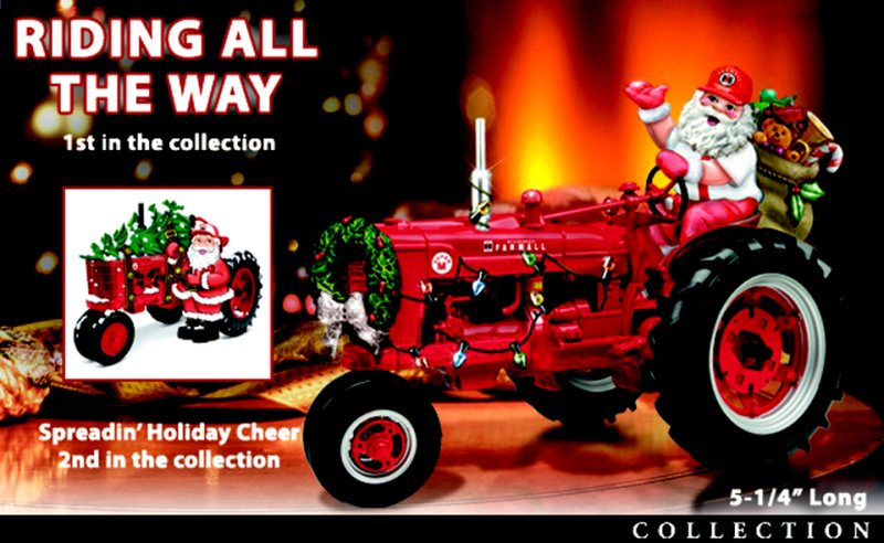 70th Anniversary Farmall Tractor Holiday Harvest Figurine Collection