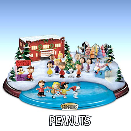 PEANUTS Christmas Skating Pond Figurine