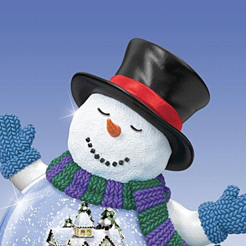 Thomas Kinkade Christmas Miniature Snowglobe Collection: Making Spirits Bright - detail