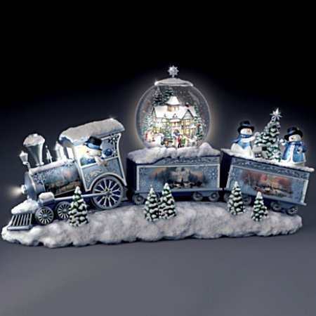 Thomas Kinkade Snowfall Express Illuminated Snowglobe Train