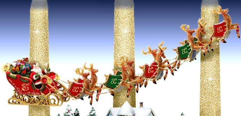 Illuminated Christmas Village Scene