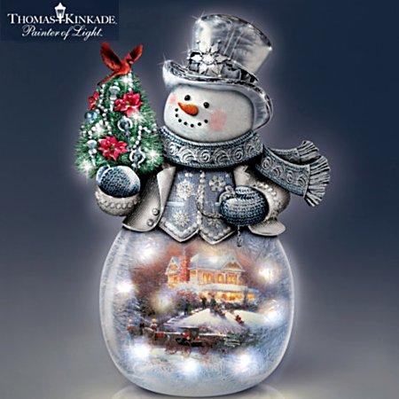 Thomas Kinkade Warm Winter's Glow Illuminated Sculpture