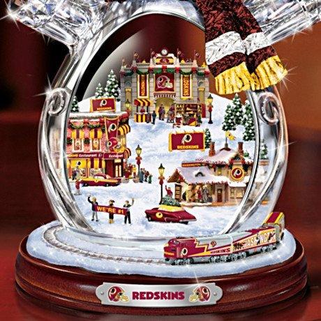 Washington Redskins Masterpiece Edition Crystal Snowman Figurine - Detail