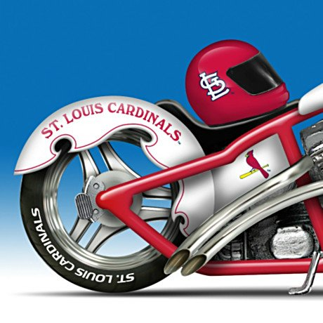 St. Louis Cardinals 2011 World Series Champions Chopper Motorcycle Figurine Collection - detail