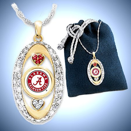 For The Love Of The Game Alabama Crimson Tide Pendant Necklace