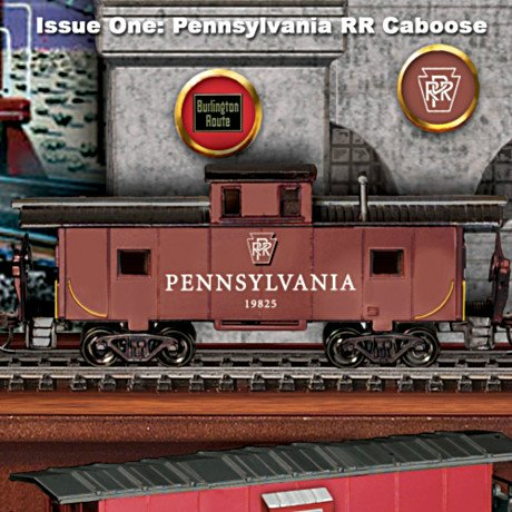 America's Greatest Cabooses HO-Scale Electric Train Car Collection - Issue 1
