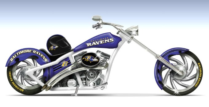 NFL Baltimore Ravens Black & Purple Champion Chopper Figurine