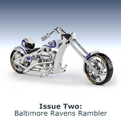 NFL Baltimore Ravens Motorcycle Figurine Collection - Issue Two