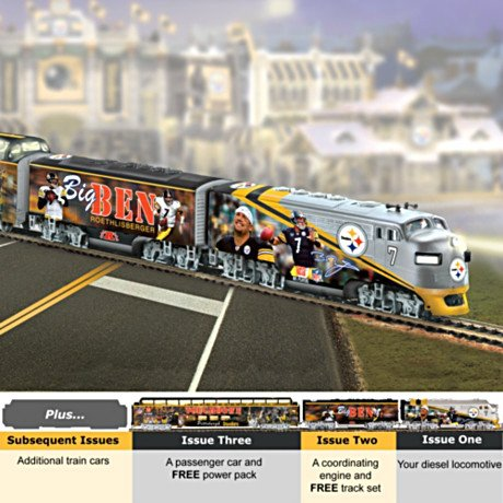 Big Ben Roethlisberger Of The Pittsburgh Steelers Express Train Collection