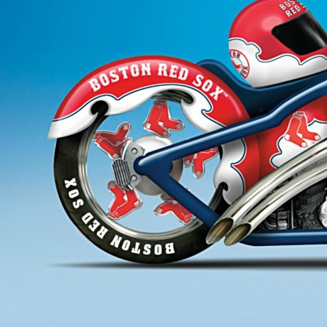 MLB Boston Red Sox Motorcycle Figurine: Home Run Racer - Detail