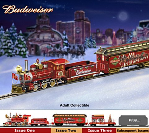 Budweiser Electric Christmas Train Collection: Budweiser Holiday Express