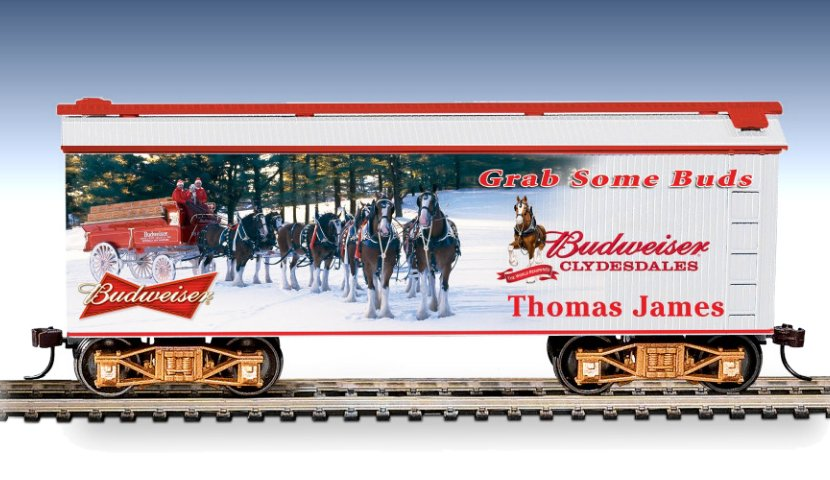 Budweiser Personalized Train Car: Grab Some Buds