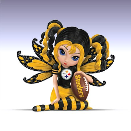 A Little Bit Of Steelers Magic - Pittsburgh Steelers Fairy Figurine