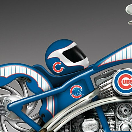 MLB Chicago Cubs Motorcycle Figurine: Home Run Racer - detail