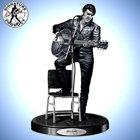 Sculpture: Elvis Presley '68 Comeback Platinum Edition Sculpture