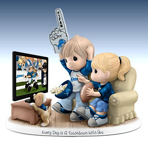 Every Day Is A Touchdown With You - Collectible Detroit Lions Figurine