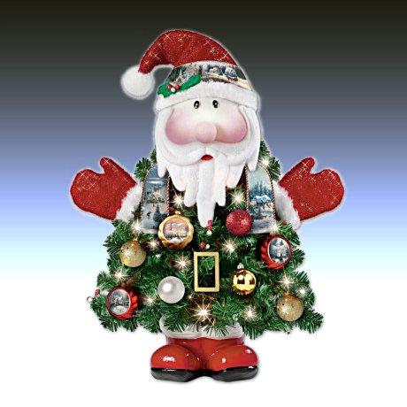 Thomas Kinkade Ho-Ho-Home For The Holidays Pre-Lit Christmas Tree
