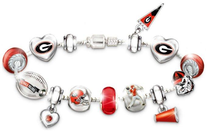 Georgia Bulldogs Charm Bracelet: Go Bulldogs! #1 Fan