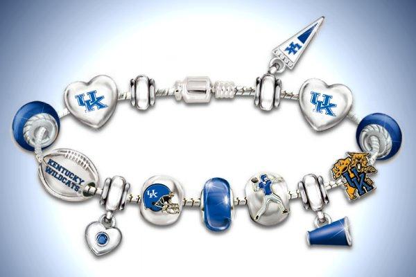 Bracelet: Go Kentucky Wildcats! #1 Fan Charm Bracelet