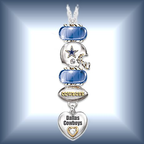 Go Cowboys! No. 1 Fan Charm Necklace