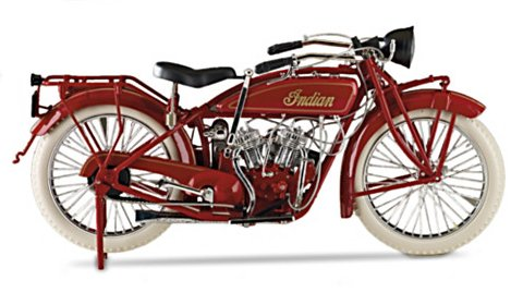 Hand-Painted Indian Motorcycle 1:6-Scale 1920 Diecast Motorcycle - view from right