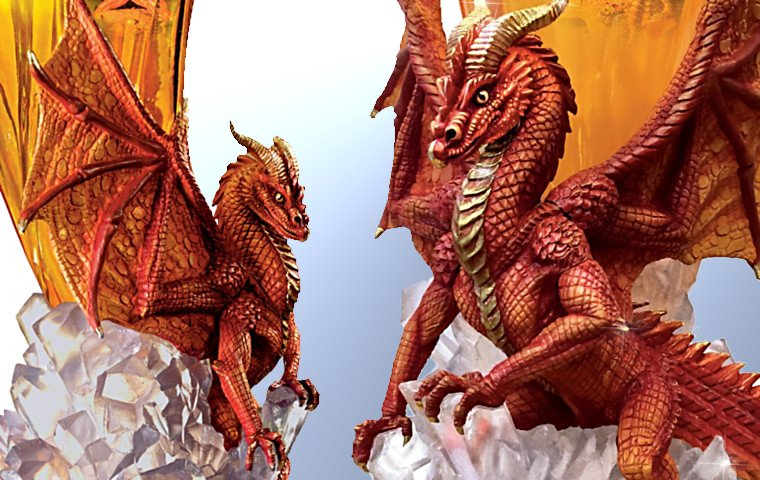 Hildebrandt Brothers Born Of Fire Dragon Torchiere Lamp - details