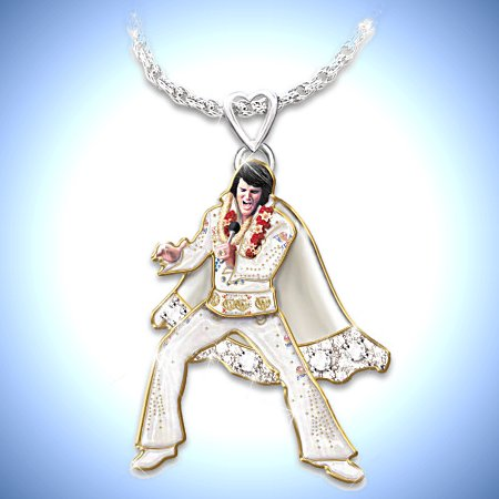 Necklace: Hip Shakin' Elvis Signature Dance Moves Pendant Necklace