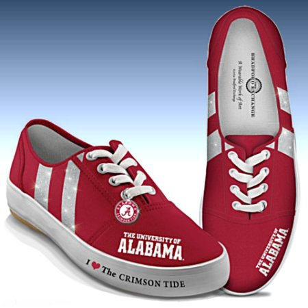 I Love The Alabama Crimson Tide Women's Canvas Shoes