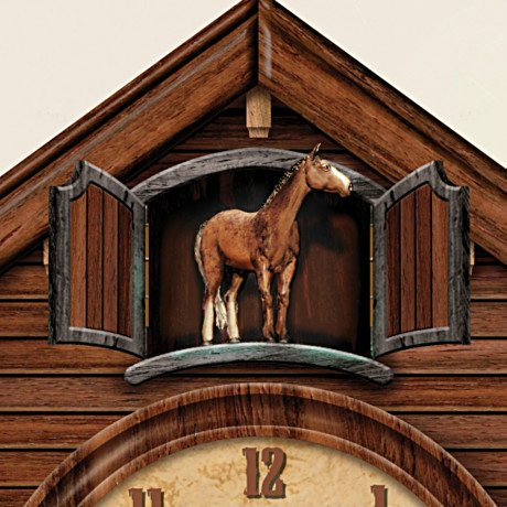 John Wayne: American Icon Collectible Cuckoo Clock - detail 1