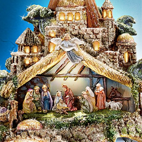 The Nativity Tree Tabletop Centerpiece Presented And Narrated By Thomas Kinkade - detail