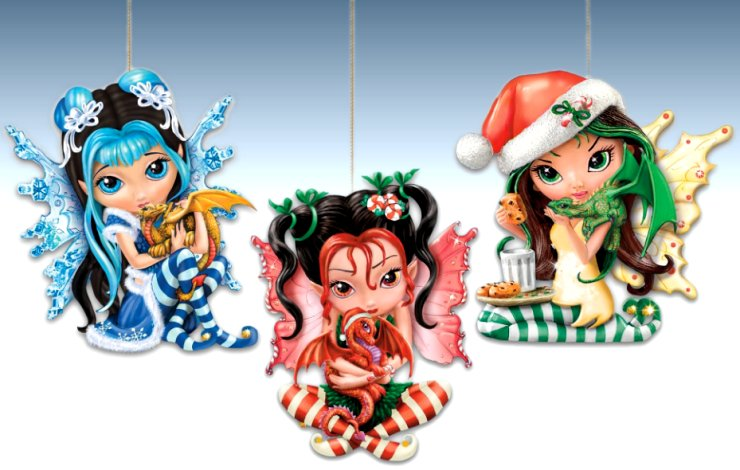 Jasmine Becket-Griffith We Wish You A Fairy Christmas! Fantasy Art Ornament Collection