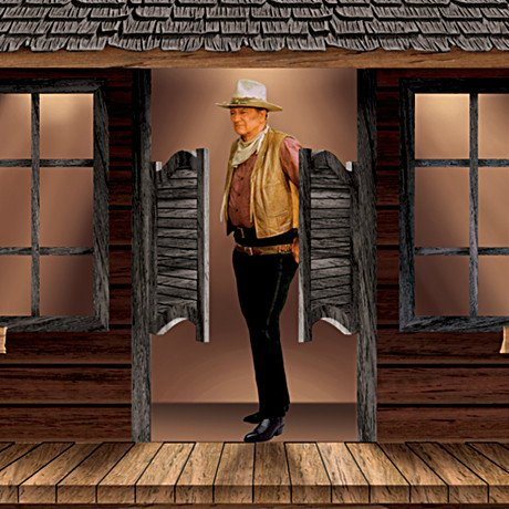John Wayne: American Icon Collectible Cuckoo Clock - detail 2