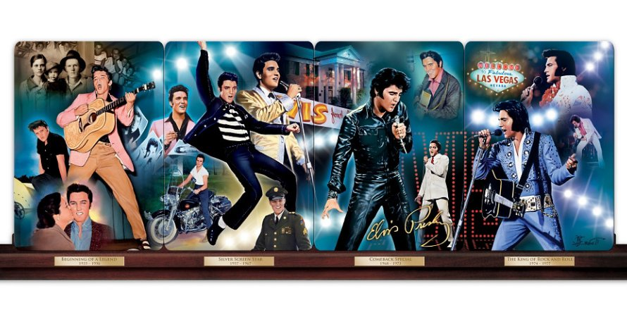 Legend Of The King: Elvis Presley Panorama Collector Plate Collection