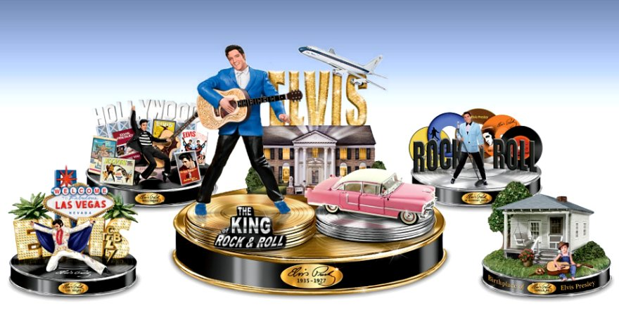 Life Of Elvis Tribute Sculpture Collection