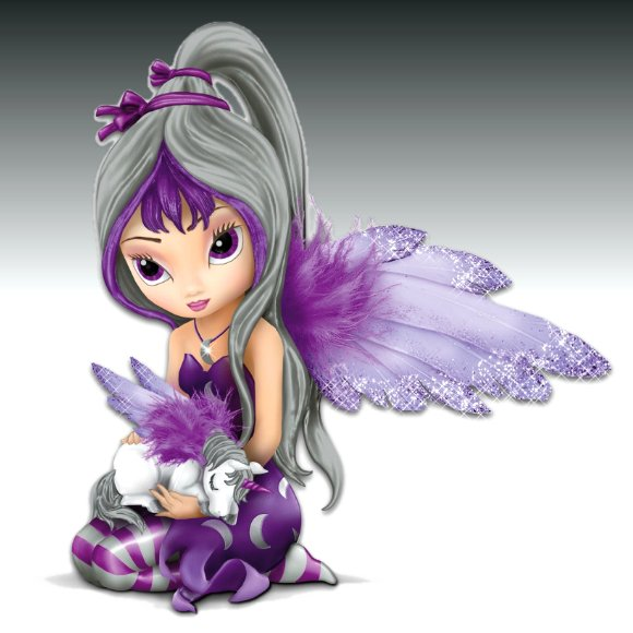 Jasmine Becket-Griffith Fairy And Unicorn Figurine: Midnight Dream