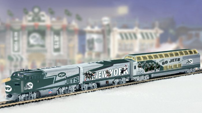 NFL Football New York Jets Express Electric Train Collection