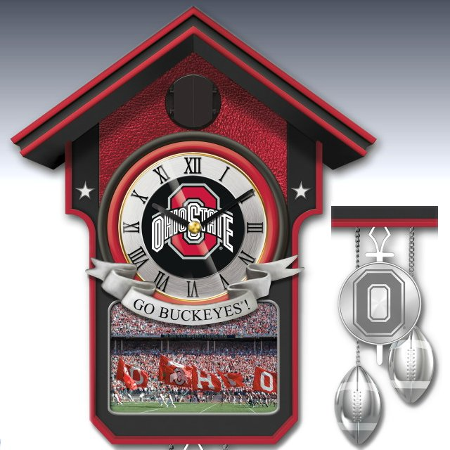 Ohio State Buckeyes Cuckoo Clock