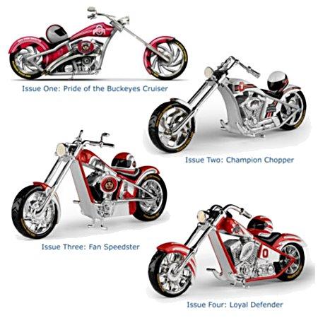 Ohio State University Buckeyes Motorcycle Figurine Collection: Go Buckeyes