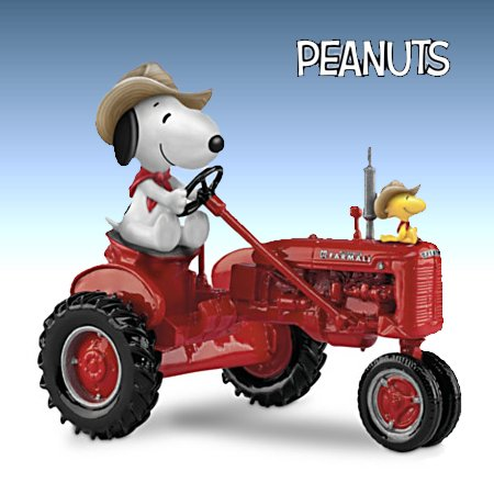 PEANUTS Joe Farmer Snoopy And Woodstock Figurine