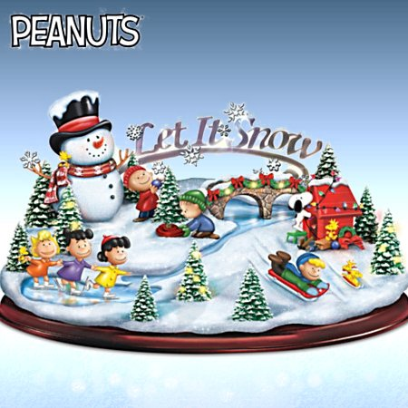 PEANUTS Let It Snow Sculpture