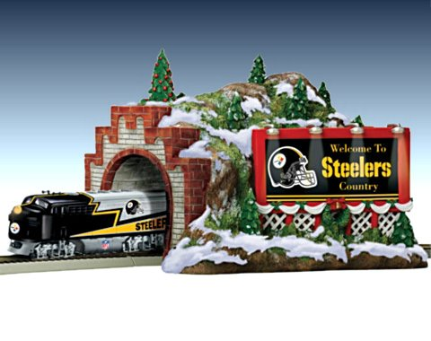 Pittsburgh Steelers Christmas Mountain Tunnel Train Accessory