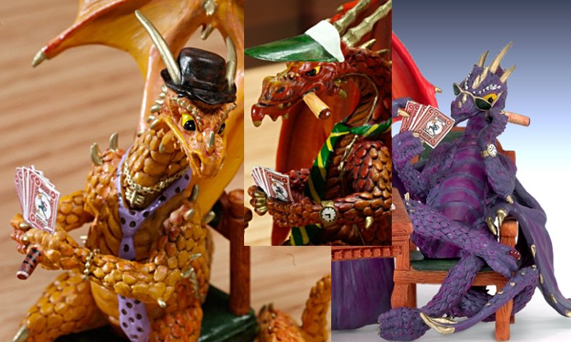 Poker Dragons Figurine Collection details