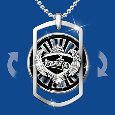 Motorcycle Pendant Necklace: Ride Forever