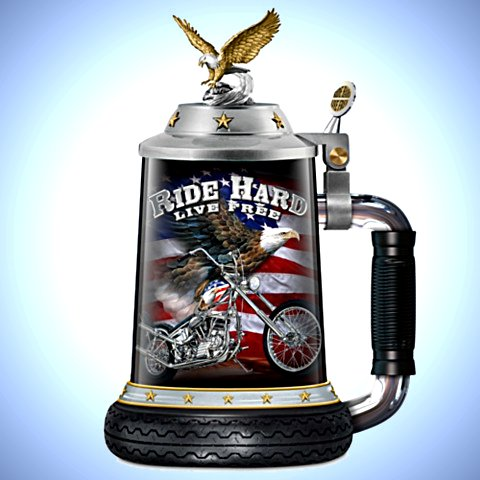 Ride Hard, Live Free - Motorcycle Stein