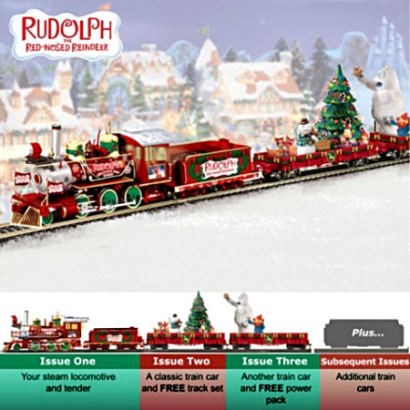 Rudolph's Christmas Town Express Electric Train Collection