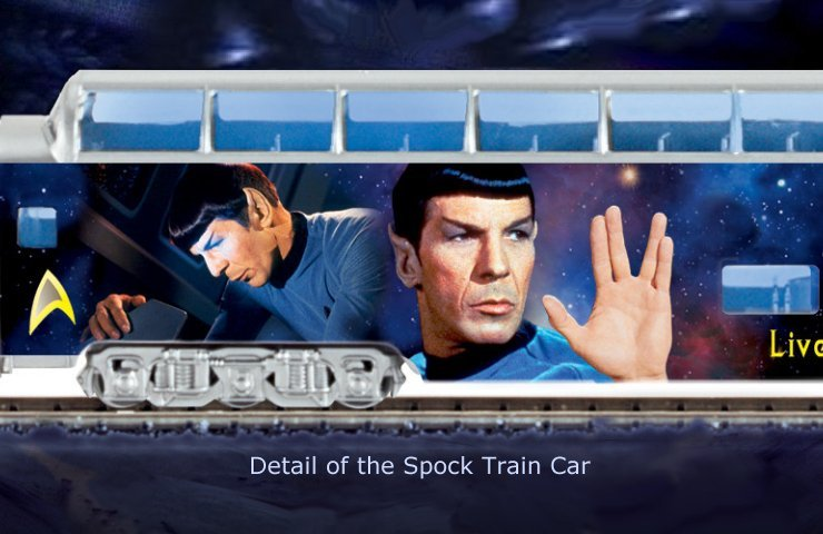 STAR TREK Express Train Collection - detail of Spock Train Car