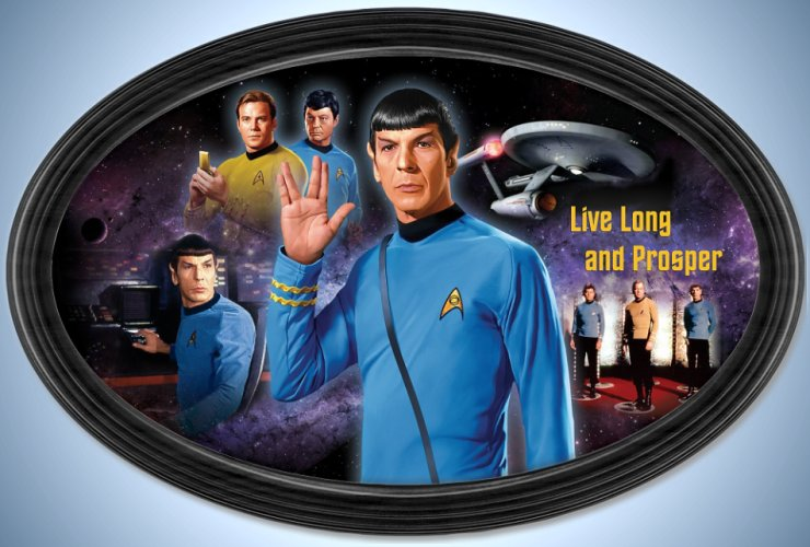 STAR TREK Live Long And Prosper Commemorative Collector Plate
